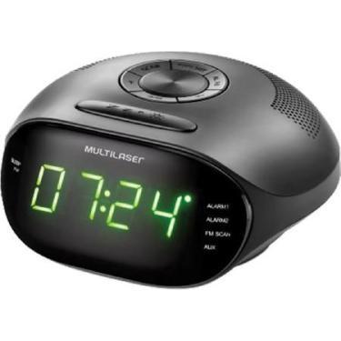 b886ed3df43 Rádio relógio digital 5w led verde bivolt sp202