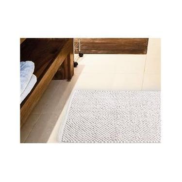 Imagem de Tapete para Banheiro Antiderrapante Micropop 60x40cm Branco