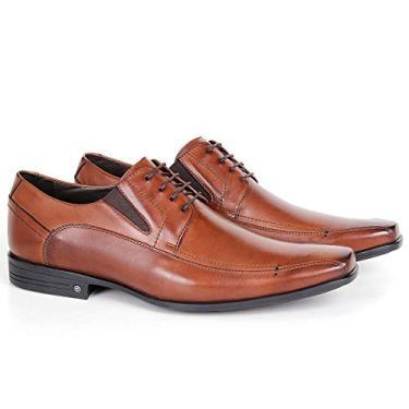 Sapato Conforto 2691 Clássico Em Couro Bronze Savelli
