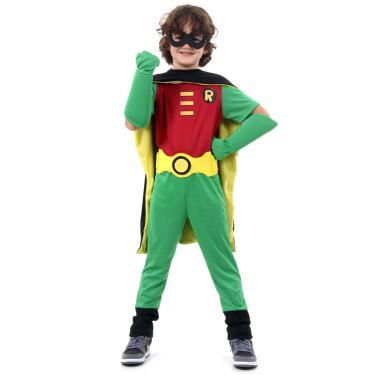 Imagem de Fantasia Robin Premium Infantil - Teen Titans P