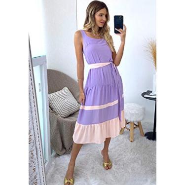 Vestido curto lilas ref. F12202
