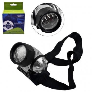 Lanterna de Cabeça Com 7 LEDS e Alças Elasticas ArtSport