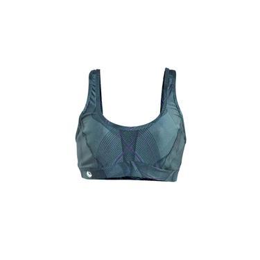 Top Fitness Feminino Estampado Casual Verde/Roxo