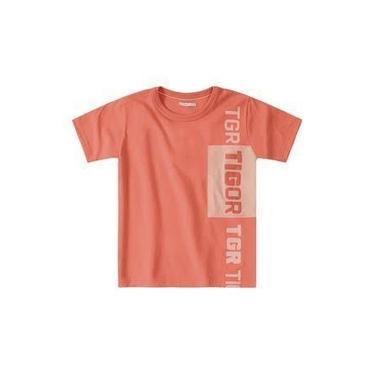 Camiseta infantil Menino- Tigor T. Tigre- Salmão