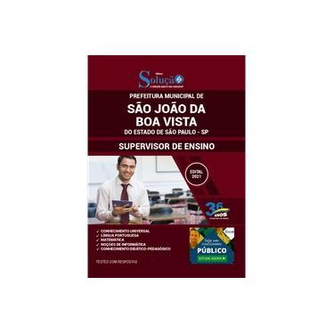 Imagem de Apostila São João da Boa Vista SP - Supervisor de Ensino