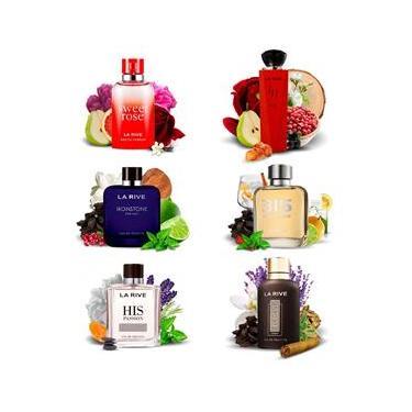 Imagem de Kit 6 Perfumes Importados La Rive Masculino e Feminino