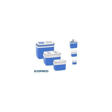 Imagem de Kit 3 Caixas Térmicas Tropical 5L, 12L e 32L Soprano Azul