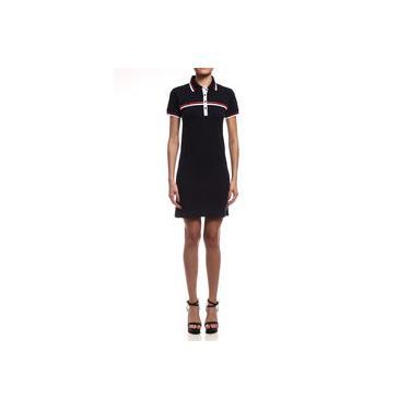 Vestido Feminino Gola Polo Curto Botões e Listras Coca-Cola Jeans 443202484