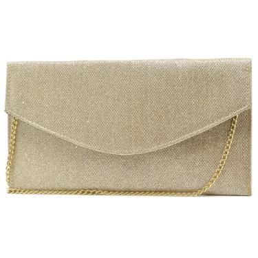 Imagem de Bolsa de Festa Hendy Bag Envelope Glitter Dourado  feminino