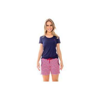 Pijama Feminino Recco Baunilha Listrado 09541