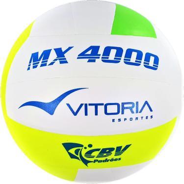 48aa6d565c073 Bola Volei Oficial Vitoria Mx4000 Verde