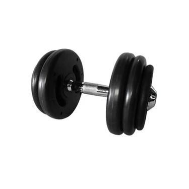 Dumbbell Injetado com Pegada Cromada Academia Fitness 20kg