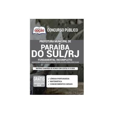 Imagem de Apostila Pref Paraíba do Sul - RJ 2021 - Fundamental Incomp