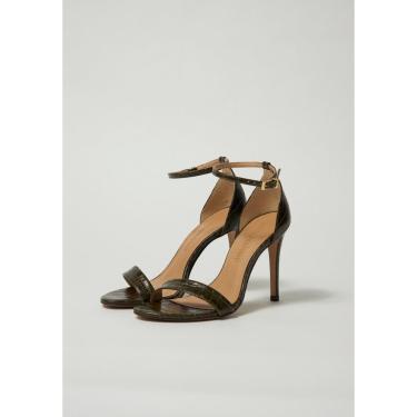 Sandália Salto Alto com Tira Lança Perfume Sandalia Preto  feminino