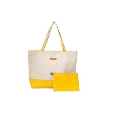 Kit Bolsa + Clutch - Color Amarelo