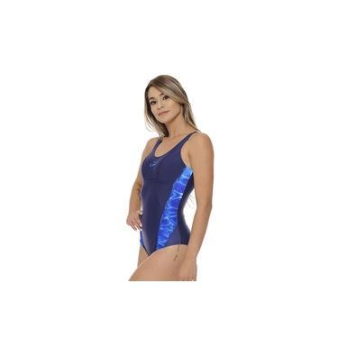 Maiô Xtra Life Nadador C/ Sustentação Hammerhead / Marinho-Estampa Azul / XGG