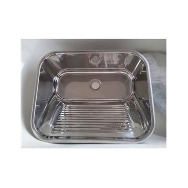 Tanque para Lavar Roupas em Aço INOX 304 para Embutir ou Sobrepor Ref:10.04.20430 63,5X53X25CM