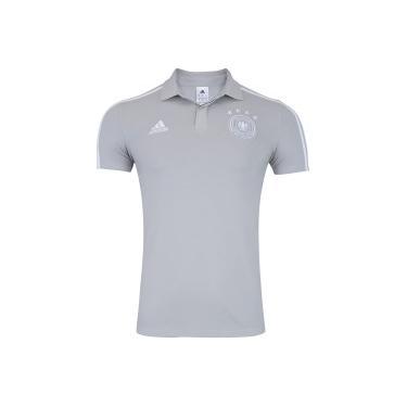 3d2eb959c7 Camisa Polo Alemanha 2018 adidas - Masculina - CINZA CLA BRANCO adidas