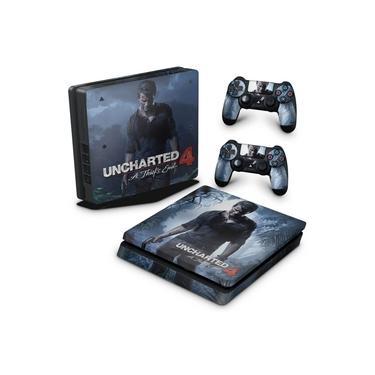 Skin Adesivo para PS4 Slim - Uncharted 4