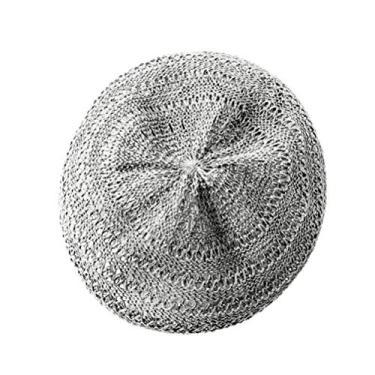 SOIMISS Oca- Out Tecido Boina Chapéu de Palha Verão Chapéu Boina Basca Francesa Art Viagem Chapéu Chapéu de Praia