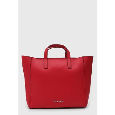 Bolsa Calvin Klein Logo Vermelha Calvin Klein K60K605041 feminino