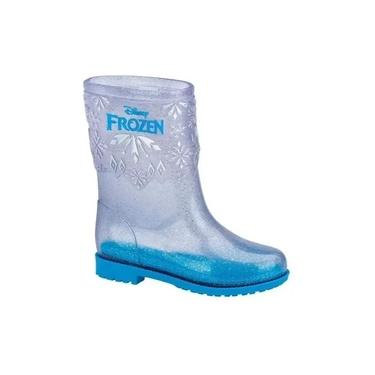 Bota Galocha Frozen Disney Magic Grendene Kids 22210 Vidro Glitter/Azul