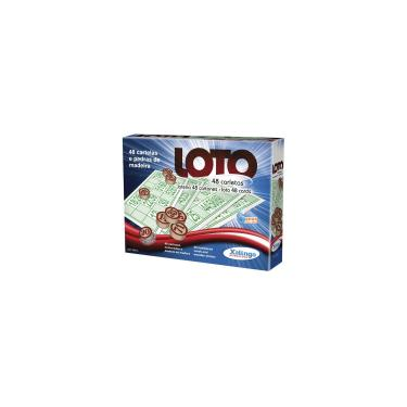 Imagem de Jogo de bingo loto 48 cartelas c/pedra madei - xalingo