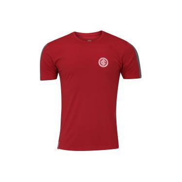 Camiseta do Internacional Faixa Meltex - Masculina - VERMELHO CINZA ESC  Meltex 3df16ef156546