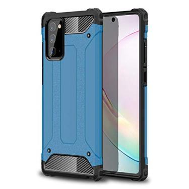 Hicaseer Capa para Samsung Galaxy Note 20, capa protetora de TPU com camada dupla híbrida 2 em 1 para Samsung Galaxy Note 20 - azul