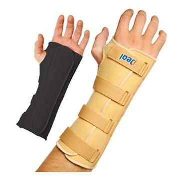 Imagem de Ideal Produtos Ortopédicos, Imobilizador de Pulso Longo (Tala Longa), Esquerdo, Bege, Tamanho: PP