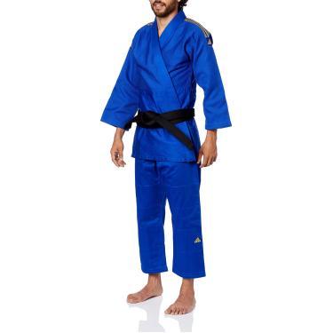ADIDAS Kimono Judo Quest Azul E Dourado 185