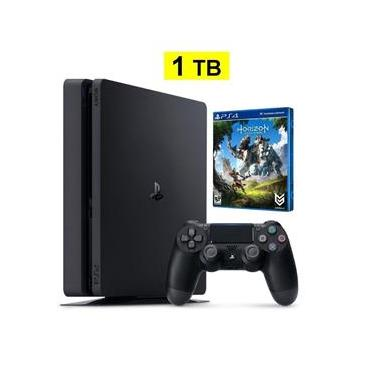 Console Playstation 4 1Tb Slim + Jogo Horizon Zero Dawn