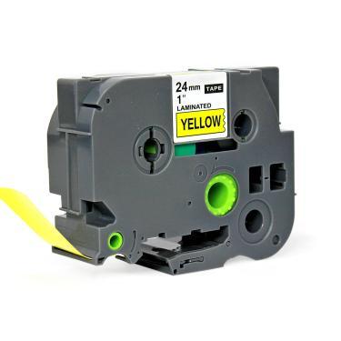Fita para Rotulador Eletrônico 24mm x 8m Marca X-Full Referência TZc-651 TZe-651 TZ-651 Amarelo/Preto