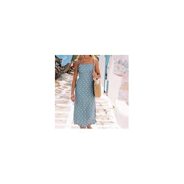 Vestido feminino com estampa de moda de verão e vestido de festa fresco
