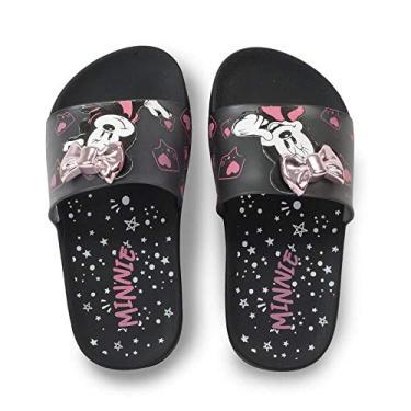 Chinelo Infantil Minnie Disney Fashion Fun Laço Slide Menina