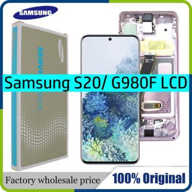 """6.2 """"novo amoled original para samsung galaxy s20 tela de toque g980 g980f g980f/ds lcd display"""
