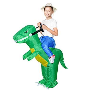 Imagem de Fantasia inflável de dinossauro de cavalo de galo MH Zone para adultos fantasia de dinossauro tamanho adulto, Child Dinosaur, unisex-adult