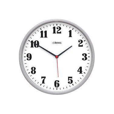 329d5538af5 Relógio De Parede Com Diâmetro De 260 Mm - Quartz - Herweg (Cinza)