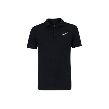 Camisa Polo Nike Court Dry Team - Masculina - PRETO BRANCO Nike 00a9e05af56eb
