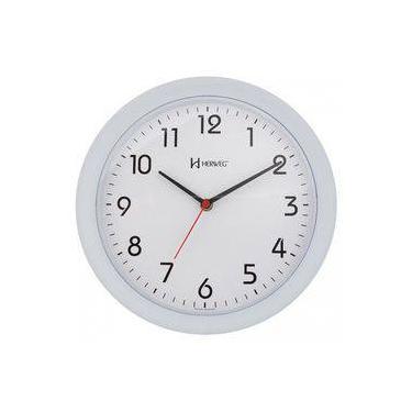 bbc0ef8df9c Relógio De Parede Moderno Analógico Redondo Mecanismo Step Herweg Branco  Fosco