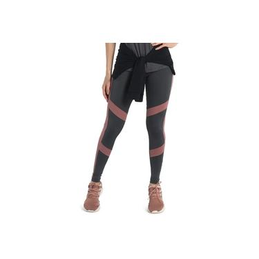 Legging Feminina Fitness Cinza Ameixa Para Academia Crossfit