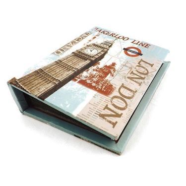 Álbum de Fotos Big Ben Oldway - 80 fotos 10x15 cm - com Capa em Seda - 18x14 cm