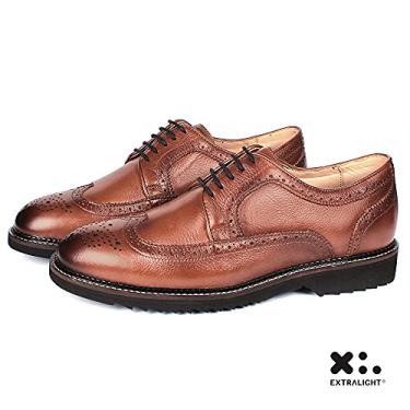 Sapato Masculino New Castle Em Couro Floater 7150 Bronze Savelli (43)