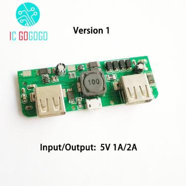 5v 2a 2.1a power bank carregador módulo de carregamento placa de circuito step up impulso módulo de