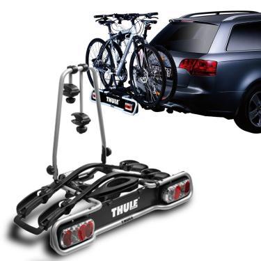 Suporte Transbike 2 Bicicletas Engate Thule EuroRide 941 Sistema de Iluminação Cinza 36KG Universal