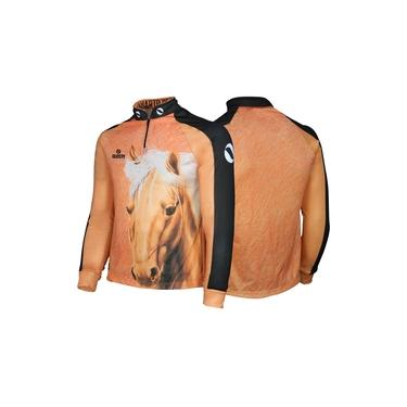 Camisa Quisty Infantil 10 Elite Cavalgada Quarto de Milha Marrom