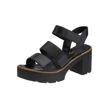 Sandália Gigil Plataforma Tratorada Preto  feminino