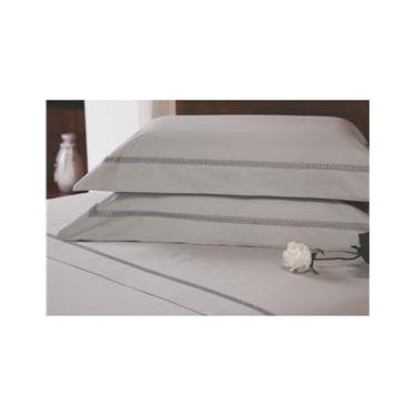 Imagem de Fronha para Travesseiro Plumasul Majestic Allure em Percal 233 Fios 50 x 150 cm – Cáqui