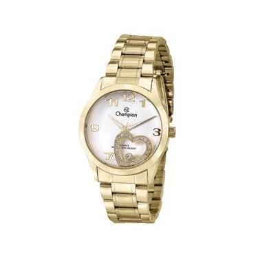 a12219e23ea Relógio Feminino Analógico Champion CN28562H - Dourado