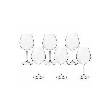 Taça Vinho Bordeaux Bohemia Cristal titânio 650ml  6 Peças